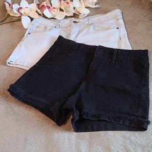 2 Pair Jean Shorts